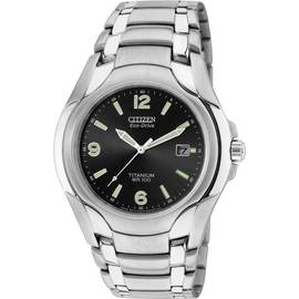 ca988c8c1df Citizen Eco-Drive Men s Silver Titanium Bracelet Watch