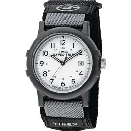 Timex Men's Black Fabric Strap Watch