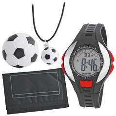 Tikkers Black Digital Watch Set