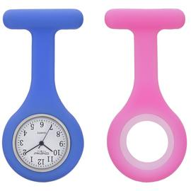 Constant Nurses' Blue and Pink Plastic Fob Watch