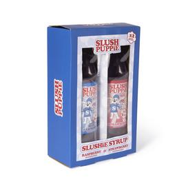 Slush Puppie Syrup Pack of 2 -  Strawberry and Raspberry
