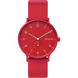 Skagen Aaren Kulor Red Silicone Strap Watch