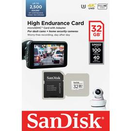 SanDisk High Endurance 100MBs Micro SD Memory Card - 32GB