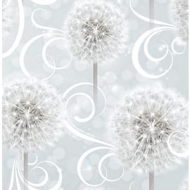 Sublime Dandelion Dreams Grey Wallpaper