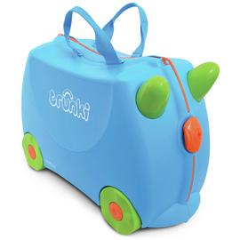 Trunki Terrance 4 Wheel Hard Ride On Suitcase - Blue
