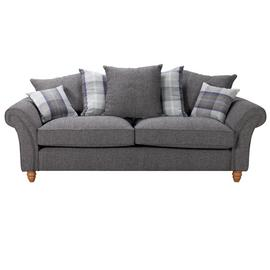 Argos Home Edison 3 Seater Fabric Sofa - Charcoal