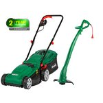 more details on Qualcast Corded Rotary Mower 1300W and Grass Trimmer 320W.