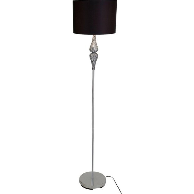 Buy heart of house eloise crackle floor lamp black at for Heart of house ariano crackle 5 light floor lamp