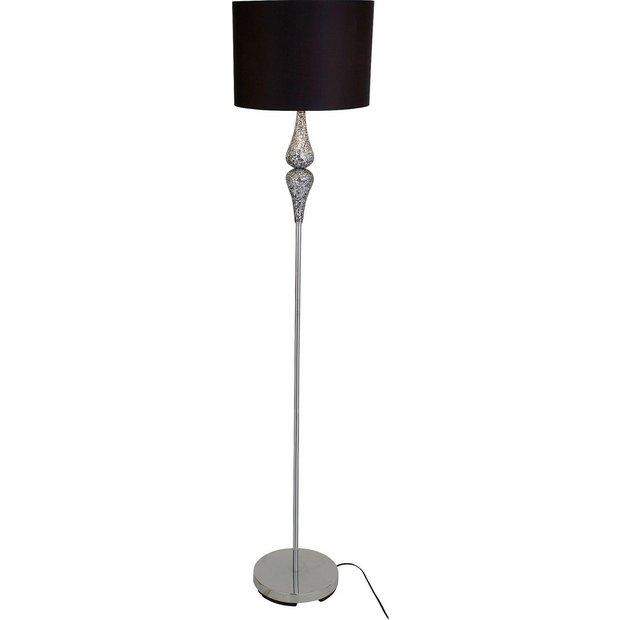 Buy heart of house eloise crackle floor lamp black at for Floor lamp babies r us