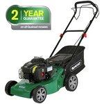 more details on Qualcast 41cm Wide Push Petrol Lawnmover - 125Cc.