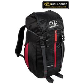 Highlander Starav 35L Backpack - Black and Red