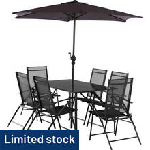 HOME Milan 6 Seater Metal Patio Set