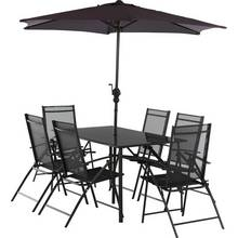 Buy HOME Newbury 6 Seater Wooden Patio Set | Garden table and chair ...