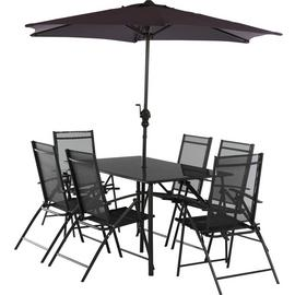 Argos Home Milan 6 Seater Metal Patio Set - Black