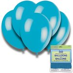 more details on Turquoise 12 Inch Premium Balloons - Pack of 50.