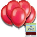 more details on Scarlet Red 12 Inch Premium Balloons - Pack of 50.