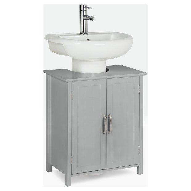 Buy Argos Home Tongue Groove Under Sink Unit Grey Under Sink Storage Argos