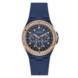 Guess Ladies Blue Silicone Strap Watch