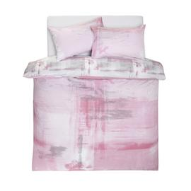 Argos Home Blush Brush Stroke Bedding Set - Double