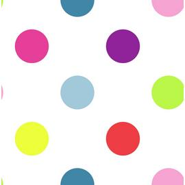 Graham & Brown Bright Dotty Wallpaper - Multicoloured