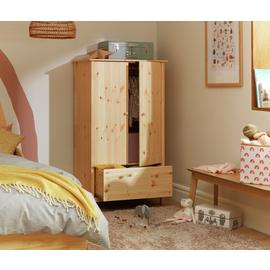 Argos Home Scandinavia 2 Door 1 Drawer Wardrobe - Pine