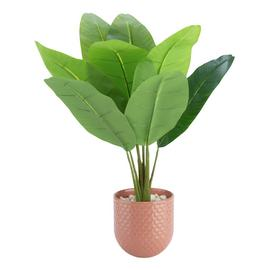 Argos Home Wilderness Faux Pot Plant - Pink