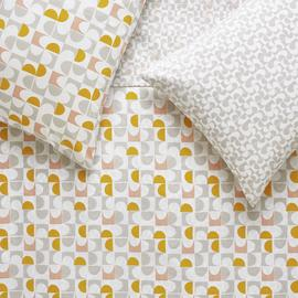 Habitat Rollo Pink & Mustard Bedding Set - Superking