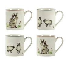 Argos Home Moorlands Set of 4 Animal Mugs