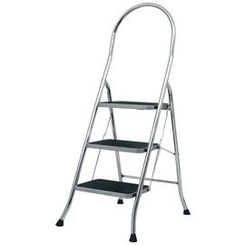 Abru 3 Step Chrome Finish Step Stool 2.45m *SWH