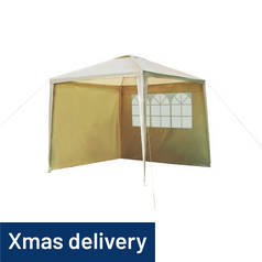 Argos Home 2.7m x 2.7m Square Garden Gazebo with Side Panels