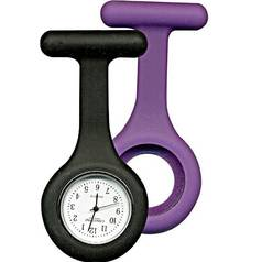 Constant Nurses' Purple and Black Fob Watch