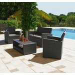 more details on Collection Havana Rattan Effect Grey 4 Seater Sofa Set.