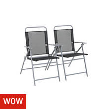 Argos Home Atlantic Steel Folding Chairs - Set of 2