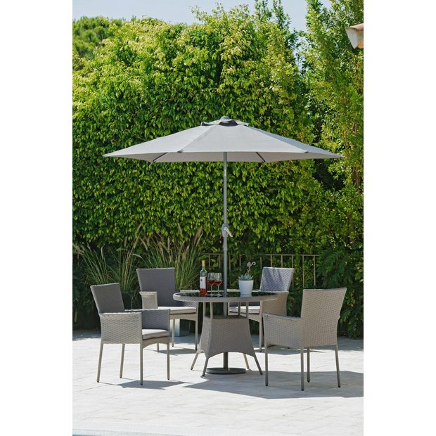 buy collection havana rattan effect 4 seater set at argoscouk your online shop for garden table and chair sets garden furniture home and garden