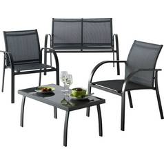 Argos Home Milan 4 Seater Metal Sofa Set