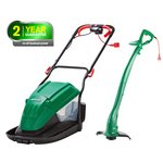 more details on Qualcast Corded Hover Mower 1600W And Trimmer 320W.