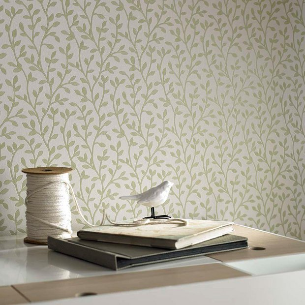 Buy superfresco wallpaper boho green at for Wallpaper home and bargain