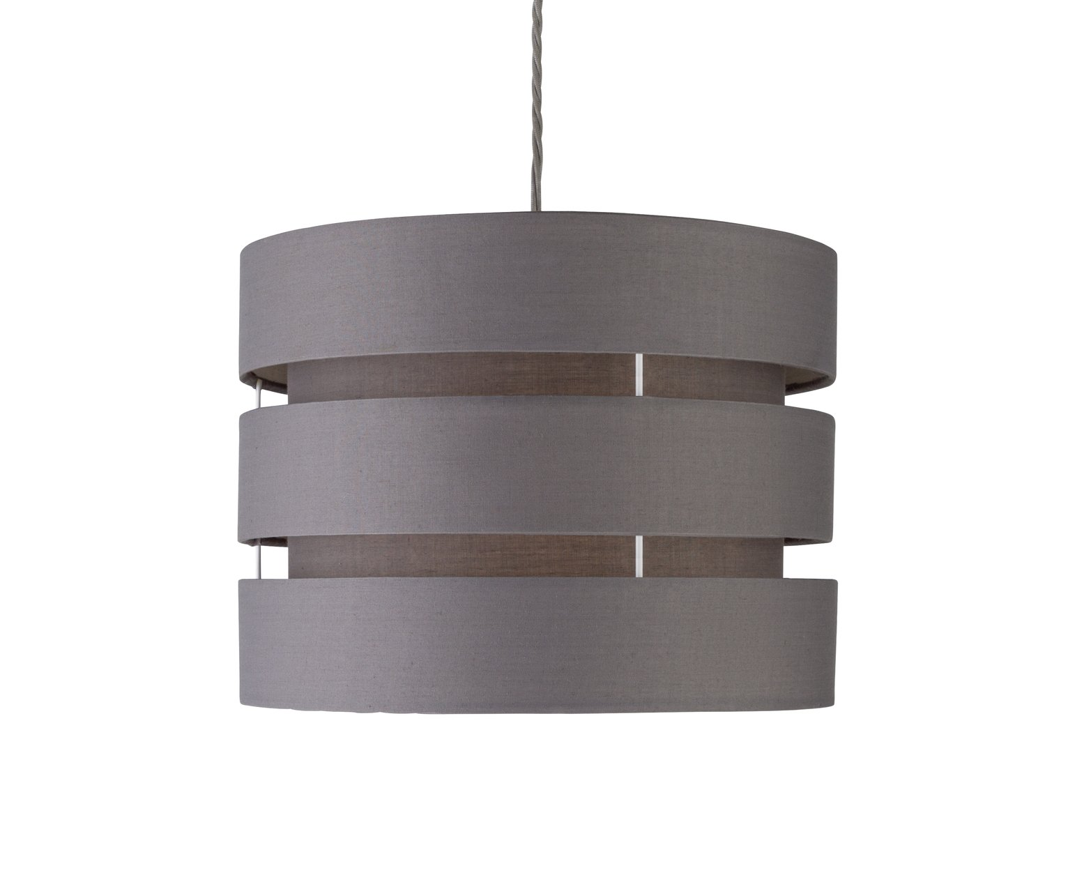 HOME 2 Tier Light Shade   Flint Grey