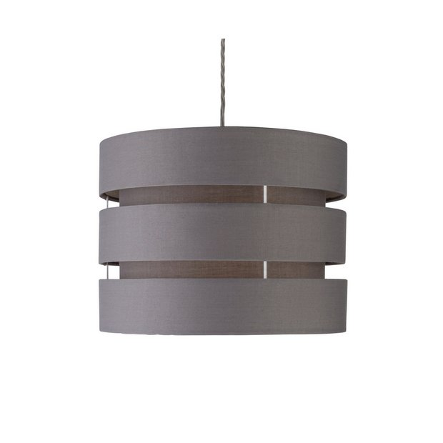 Argos Wall Lamp Shades : Buy ColourMatch 3 Tier Light Shade - Flint Grey at Argos.co.uk - Your Online Shop for Lamp ...