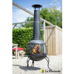 more details on La Hacienda Extra Large Steel Chiminea - Pewter.