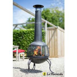 La Hacienda Extra Large Steel Chiminea - Pewter