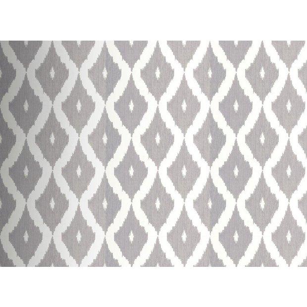 buy graham and brown wallpaper sample ikat grey at your online shop for. Black Bedroom Furniture Sets. Home Design Ideas