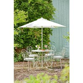 Argos Home Jasmine 4 Seater Metal Patio Set - Cream