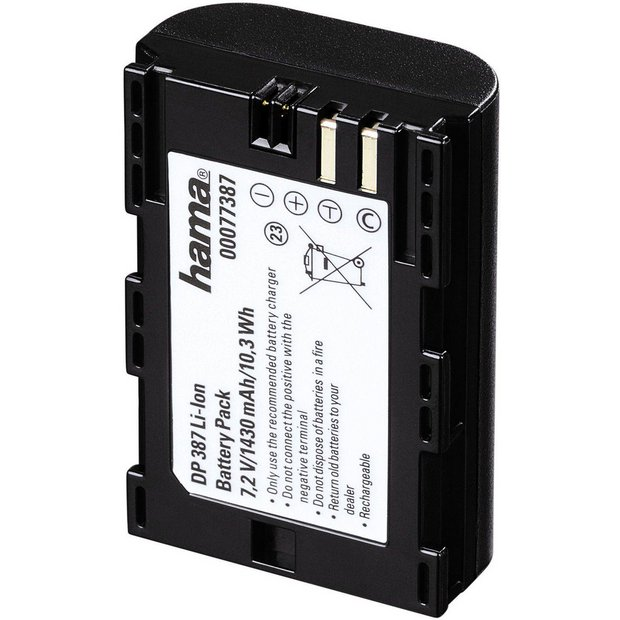 buy hama dp 387 li ion battery for canon eos 550d at argos. Black Bedroom Furniture Sets. Home Design Ideas