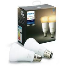 Philips Hue B22 White Smart Bulbs with Bluetooth- 2 Pack