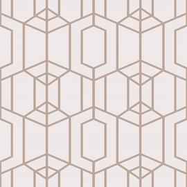 Graham & Brown Albany Geometric Blush Wallpaper