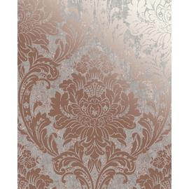 Graham & Brown Milan Damask Wallpaper - Rose Gold