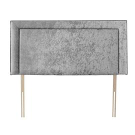 Silentnight Toulouse Velvet Superking Headboard - Silver