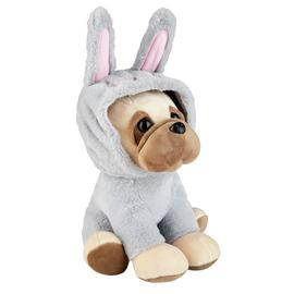 Easter Bunny Pug Soft Toy