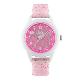 Hype Kids White and Pink Silicone Strap Watch